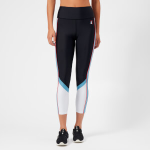 P.E Nation Women's The Backboard Leggings - Black/Sky Blue