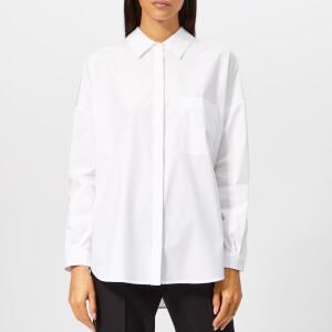 HUGO Women's Enif Shirt with Tie Sides - White