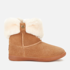 UGG Toddlers' Ramona Fluff Top Sheepskin Boots - Chestnut