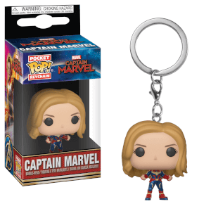 Marvel Captain Marvel Pop! Keychain