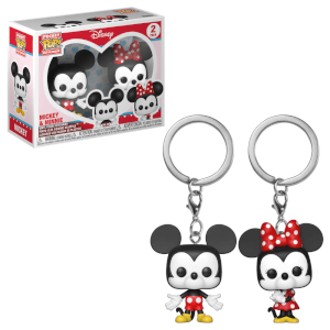 Disney Mickey & Minnie Pop! Keychain 2-Pack
