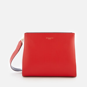 Aspinal of London Women's Ella Small Hobo Bag - Scarlet/Navy Strap