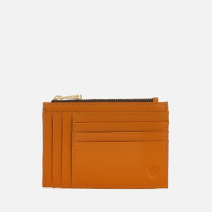 Aspinal of London Women's Double Sided Zip Card Holder - Mustard