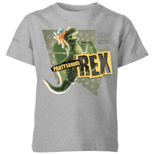Toy Story Partysaurus Rex Kids' T-Shirt - Grey