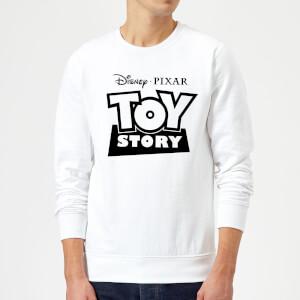 Toy Story Logo Outline Sweatshirt - White