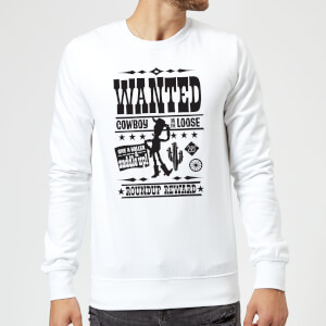 Sweat Homme Affiche Wanted Toy Story - Blanc