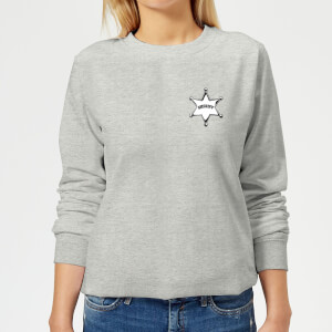 Toy Story Sheriff Woody Badge Women's Sweatshirt - Grey