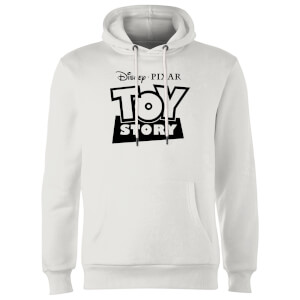 Toy Story Logo Outline Hoodie - White