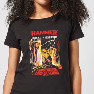T-Shirt Femme Frankenstein Créa La Femme - Noir