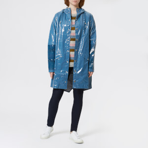 RAINS Women's Ltd Long Jacket - Faded Blue