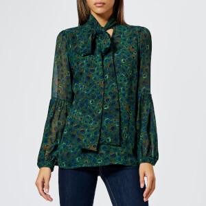 MICHAEL MICHAEL KORS Women's Maxi Bow Blouse - Joule Green