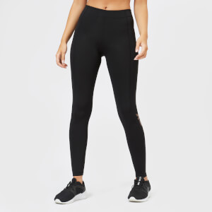 Ivy Park Women's V' Metallic Logo Ankle Active Leggings - Black