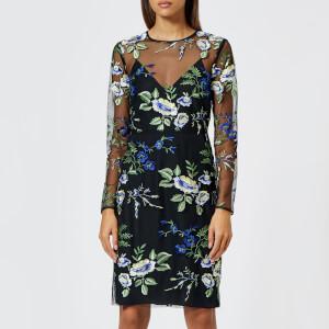 Diane von Furstenberg Women's Embroidered Dress - Black Multi