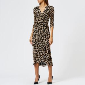 Diane von Furstenberg Women's Assymetrical Rouche Dress - Henlow Birch
