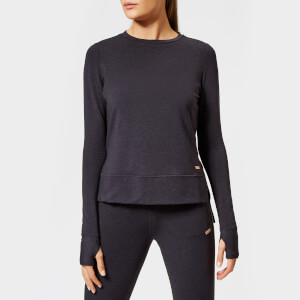 Superdry Sport Women's Active Studio Luxe Crew Neck Sweatshirt - Black Marl