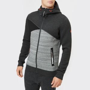 Superdry Sport Men's Gym Tech Spliced Zip Hoodie - Carbon/Black