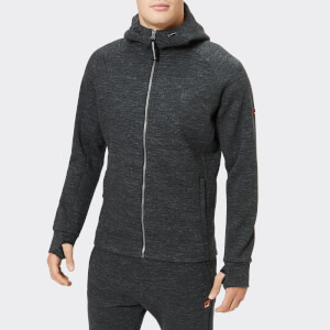 Superdry Sport Men's Gym Tech Pique Zip Hoodie - Black Space Dye