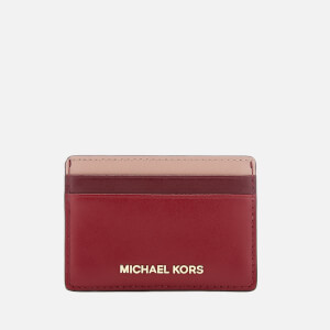 MICHAEL MICHAEL KORS Women's Card Holder - Maroon Multi