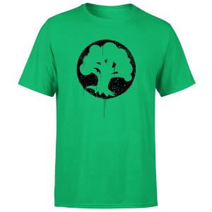 Magic The Gathering Green Mana Splatter Men's T-Shirt - Kelly Green