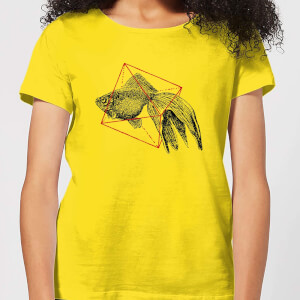 Florent Bodart Fish In Geometry Women's T-Shirt - Yellow