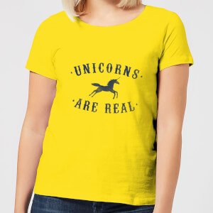 Unicorns Are Real Women's T-Shirt - Yellow