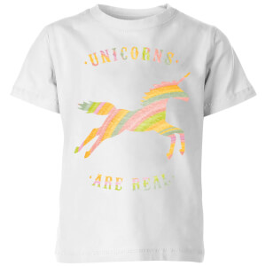 Unicorns Are Real Kids' T-Shirt - White