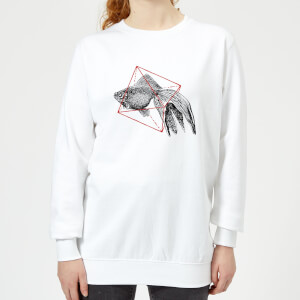 Florent Bodart Fish In Geometry Women's Sweatshirt - White
