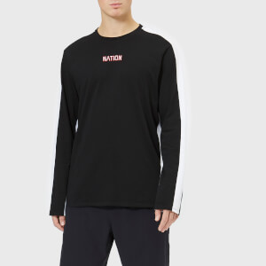 P.E Nation Men's Turnover Long Sleeve Top - Black/White