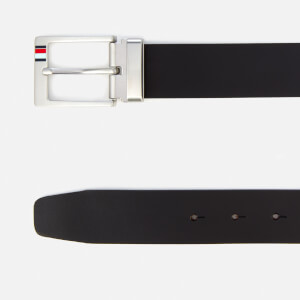 Tommy Hilfiger Men's Double Buckle Belt Giftbox - Black/Testa di Moro