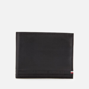 Tommy Hilfiger Men's Selvedge Embossed Wallet - Black