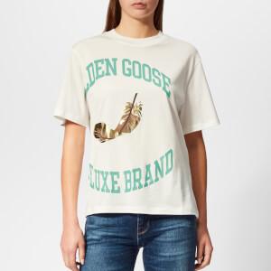 Golden Goose Deluxe Brand Women's Bernina T-Shirt - White/Gold College