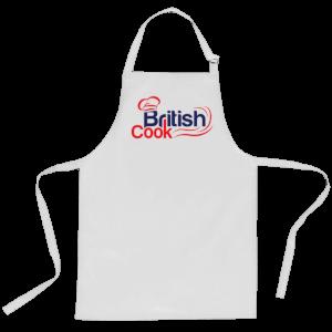 British Cook Apron - White