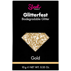 Sleek MakeUP Glitterfest Biodegradable Glitter – Gold 10 g
