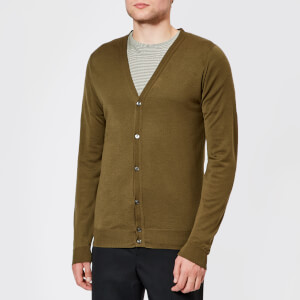 John Smedley Men's Petworth 30 Gauge Merino Cardigan - Khaki