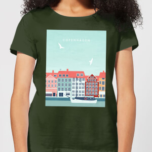 Copenhagen Women's T-Shirt - Forest Green