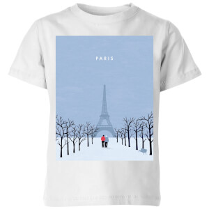 Paris Kids' T-Shirt - White