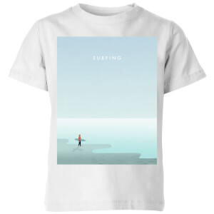 Surfing Kids' T-Shirt - White
