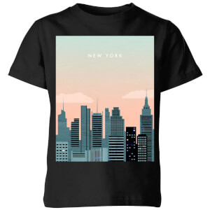 New York Kids' T-Shirt - Black