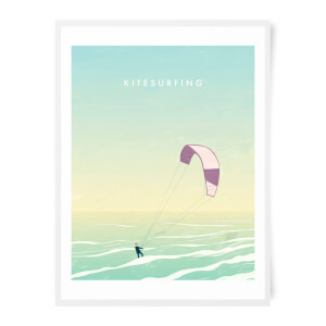 PlanetA444 Kitesurfing Art Print