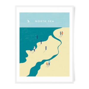 PlanetA444 North Sea Art Print