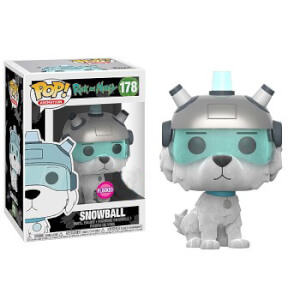 Rick and Morty Snowball Flocked EXC Funko Pop! Vinyl