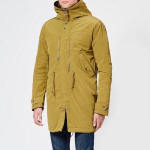 Pretty Green Men's Zip Through Hooded Parka Jacket - Khaki