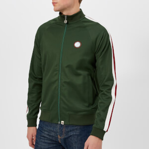 Pretty Green Men's Tilby Contrast Panel Track Top - Dark Green