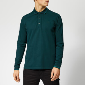 HUGO Men's Donol LS Polo Shirt - Dark Green