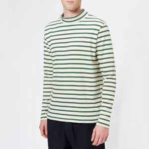 YMC Men's Chino Turtleneck Sweatshirt - Ecru/Green