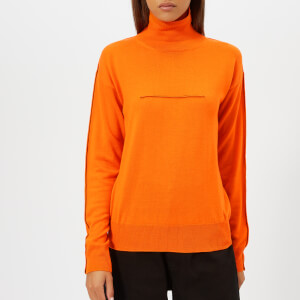 MM6 Maison Margiela Women's Lightweight Polo Knit - Orange
