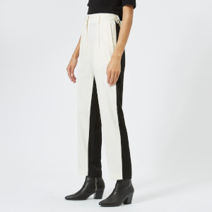 MM6 Maison Margiela Women's Wool Trousers - White/Black