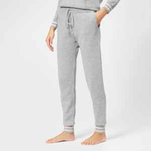 BKLYN Women's Cashmere Lounge Pants - Light Grey/Baby Pink