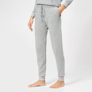 BKLYN Women's Cashmere Lounge Pants - Light Grey/Baby Pink