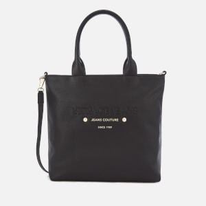 Versace Jeans Women's Logo Print Shopper Bag - Black
